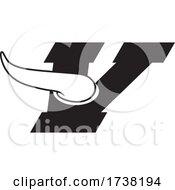 Black And White V For Vikings Logo