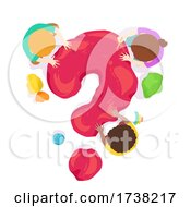 Kids Play Clay Red Question Mark Illustration