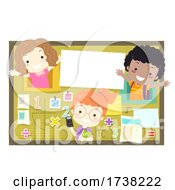 Kids School Math Bulletin Board Illustration