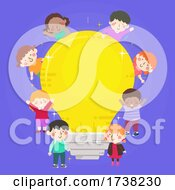 Kids Light Bulb Idea Design Illustration