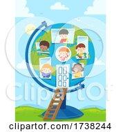 Poster, Art Print Of Kids Globe Study International School Illustration