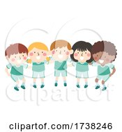 Kids Gym Team Group Plan Huddle Illustration