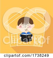 Kid Boy Bible House Illustration
