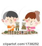 Deaf Leaf Art Doll Making Workshop Illustration by BNP Design Studio #COLLC1738252-0148