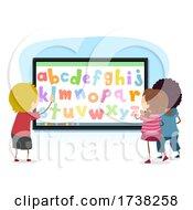 Stickman Kids Interactive Alphabet Illustration