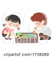 Kids Sensory Bin Insect Illustration
