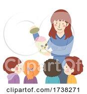 Kids Teacher Skull Brain Illustration