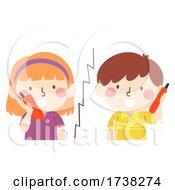 Kids Walkie Talkie Talking Illustration