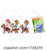 Stickman Kids Cowboy Catch Books Illustration