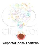 Kid Boy Scribble Ideas Light Bulb Illustration