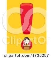 Kid Boy Speech Exclamation Point Illustration