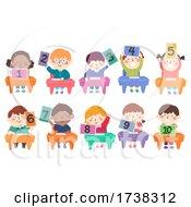 Kids Classroom Tablet Numbers Illustration
