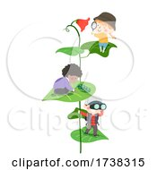 Kids Explore Leaves Flower Insect Illustration
