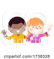 Kids Personal Information Bracelet Illustration