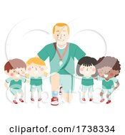Kids Coach Team Group Plan Illustration