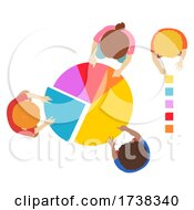 Kids Pie Chart Legend Learning Illustration