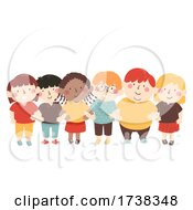 Kids Crossed Arms Diversity Unity Illustration
