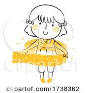 Poster, Art Print Of Kid Girl Doodle Washy Tape Illustration