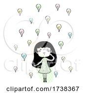 Poster, Art Print Of Girl Doodle Ideas Plenty Illustration