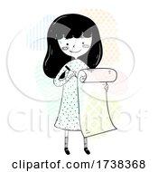 Girl Doodle Long Checklist Illustration