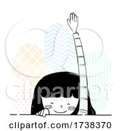 Poster, Art Print Of Girl Doodle Raise Hand Arm Illustration