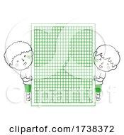 Poster, Art Print Of Kids Doodles Boys Math Graph Paper Illustration