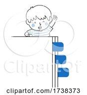 Poster, Art Print Of Kid Boy Doodle Page Tabs Illustration