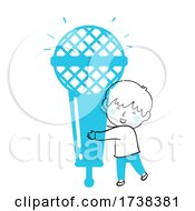 Poster, Art Print Of Kid Boy Doodle Microphone Illustration