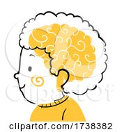 Poster, Art Print Of Kid Boy Doodle Profile Brain Illustration