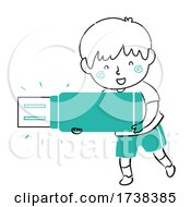 Poster, Art Print Of Kid Boy Doodle Flash Drive Illustration