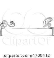 03/04/2021 - Scroll Banner Woodcut Vintage Style Ribbon