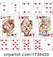 Poster, Art Print Of Playing Cards Hearts Red Yellow And Black
