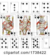 Poster, Art Print Of Playing Cards Spades Red Yellow And Black
