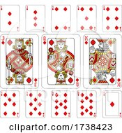 Poster, Art Print Of Playing Cards Diamonds Red Yellow And Black