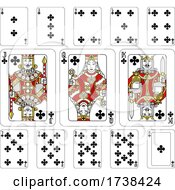 03/04/2021 - Playing Cards Clubs Red Yellow And Black