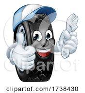 03/04/2021 - Tyre Cartoon Car Mechanic Service Mascot