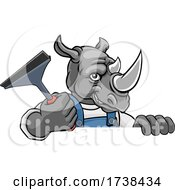 03/05/2021 - Rhino Car Or Window Cleaner Holding Squeegee