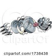 Elephant Ice Hockey Player Animal Sports Mascot