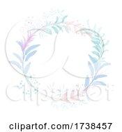 Hand Painted Decorative Floral Watercolour Circular Border Design