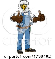 Eagle Construction Cartoon Mascot Handyman