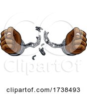 Hands Breaking Chain Shackles Cuffs Freedom Design
