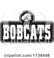 Black And White Paw Over BOBCATS Text