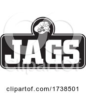 Black And White Paw Over JAGS Text