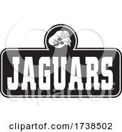 Black And White Paw Over JAGUARS Text