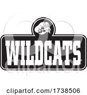 Black And White Paw Over WILDCATS Text