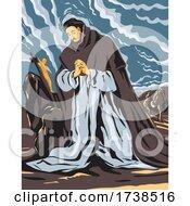 El Greco Domenikos Theotokopoulos Artwork Of Saint Dominic In Prayer Circa 1605 WPA Poster Art