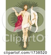 El Greco Domenikos Theotokopoulos Artwork Of The Resurrection Circa 1597 WPA Poster Art