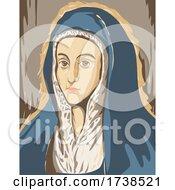 El Greco Domenikos Theotokopoulos Artwork Of Virgin Mary Or Mater Dolorosa Circa 1597 WPA Poster Art