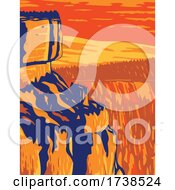 Inspiration Point At Bryce Canyon National Park On Paunsaugunt Plateau In Utah United States WPA Poster Art