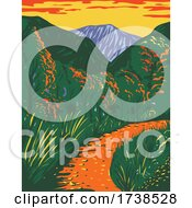 McKittrick Canyon Trail Within The Guadalupe Mountains National Park In New Mexico During Fall WPA Poster Art